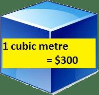 1-cubic-metre-300-dollars
